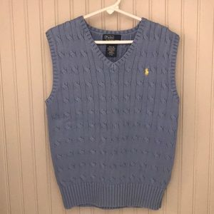 Boys light blue sweater vest